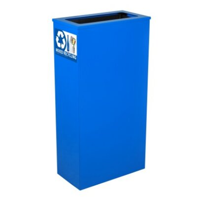 Ex-Cell Economy Slim line Indoor Recycling Receptacle