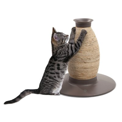 Hagen Catit Blow Molded Vase Corn-husk and Sisal Scratching Post