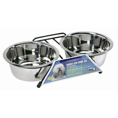 Hagen Dogit Stainless Steel Double Dog Diner