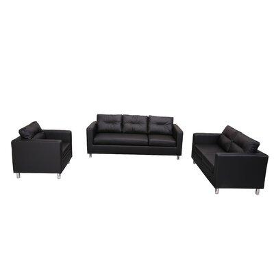 Gold Sparrow Detroit 3 Piece Sofa, Loveseat & Arm Chair Set