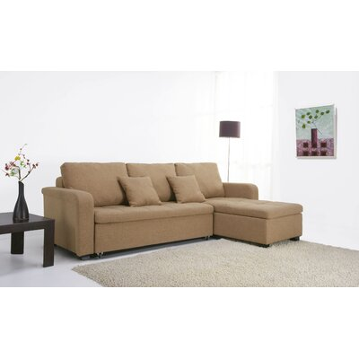 Gold Sparrow Charlotte Fabric Sleeper Sectional