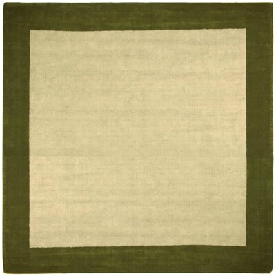 Earth First Green Jute Border Rug