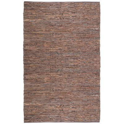 St. Croix Matador Leather Chindi Brown Rug