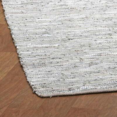 St. Croix Matador Leather Chindi Grey Rug