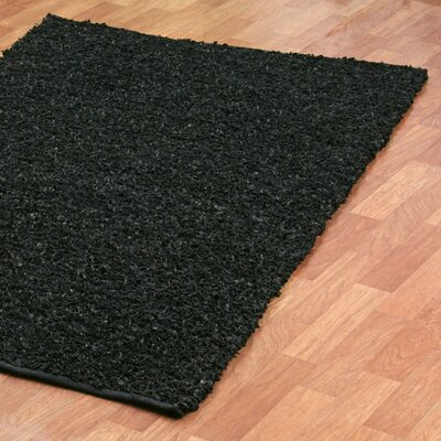 St. Croix Pelle Short Leather Black Rug
