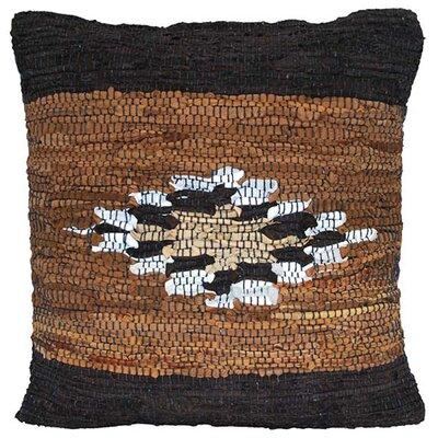 St. Croix Matador Leather Chindi Accent Pillow
