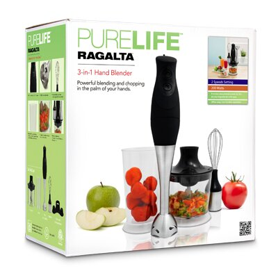 Ragalta Pure Life 4 Piece 3 in 1 Hand Blender Set