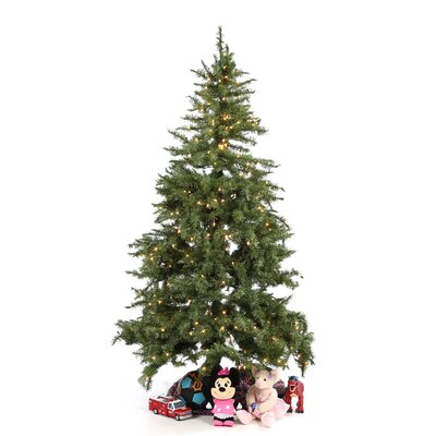 "General Foam Plastics 6' 5"" Green Evergreen Fir Artificial Christmas Tree with 450 Pre-Lit Clear Lights"