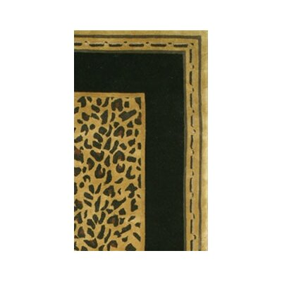 American Home Rug Co. African Safari Gold/Black Cheetah Print Rug