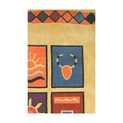 American Home Rug Co. Bright Rug Yellow Sizzle Novelty Rug