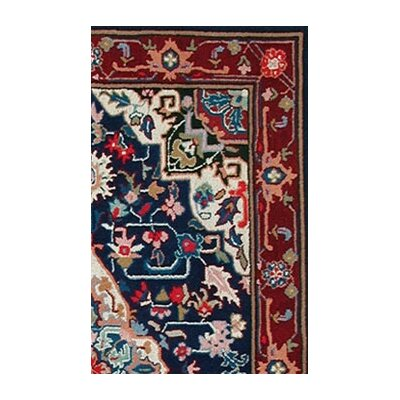 American Home Rug Co. Bucks County Heriz Navy/Burgundy Rug