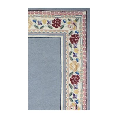 American Home Rug Co. Bucks County Light Blue/Ivory Border Rug