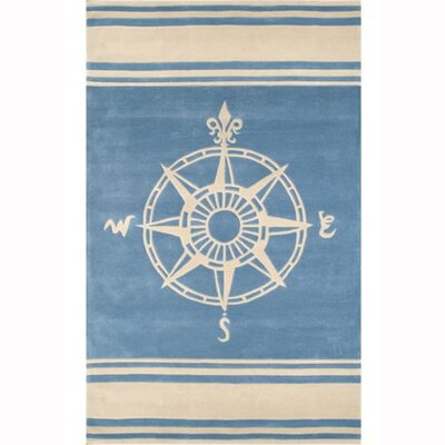 Beach Blue Novelty Rug