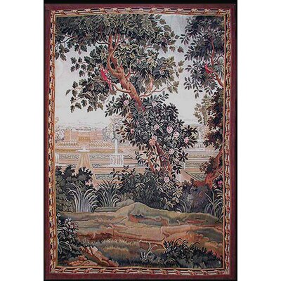 American Home Rug Co. Grandeur Landscape Blooming Tree Novelty Rug