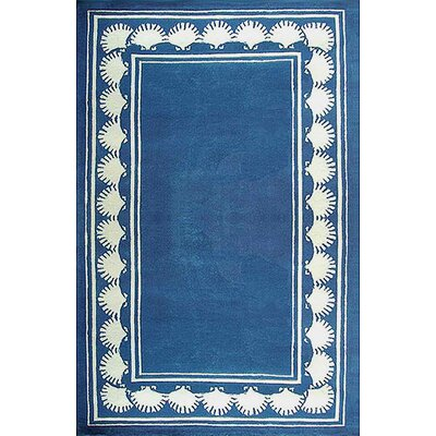 American Home Rug Co. Beach Rug Blue Shell Border Novelty Rug