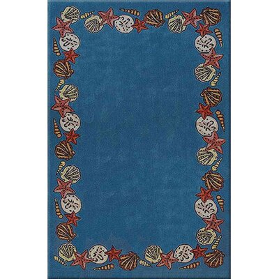 Beach Rug Blue Coral Reef Novelty Rug