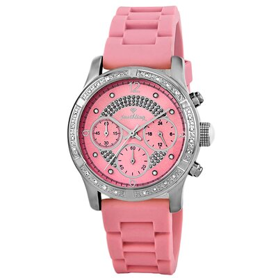 JBW Women's Venus Diamond Bezel Watch in Pink
