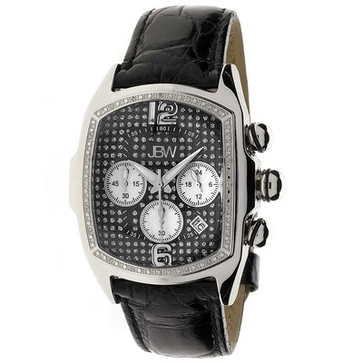 JBW Men's Ceasar Watch in Black with Black Dial