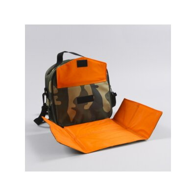 Mat Sack Ethan Placemat Lunch Bag in Camo / Orange Trim and Liner