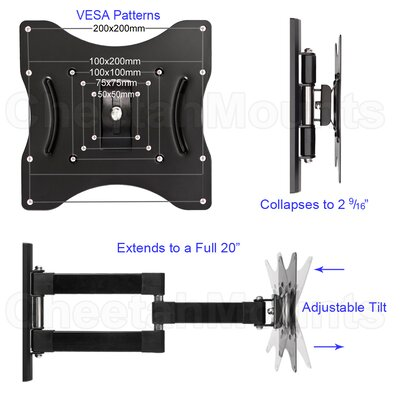"Cheetah Mounts Swivel Articulating Arm TV Wall Mount (23"" - 32"" Screens)"
