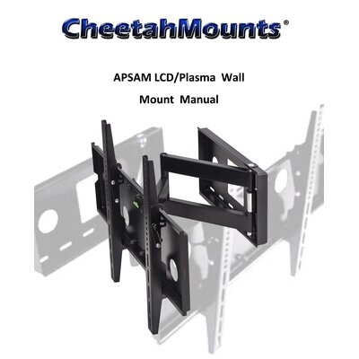 "Cheetah Mounts Articulating Arm TV Wall Mount (32"" - 55"" Screens)"