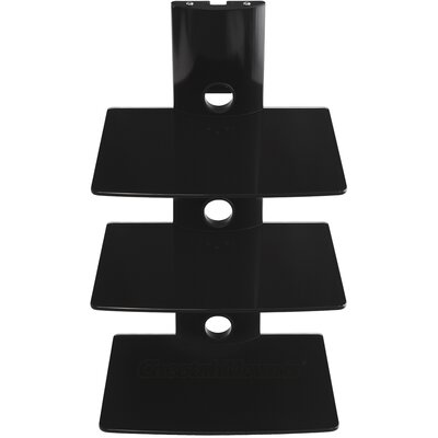 Tri-Shelf Wall Mount Bracket in Black