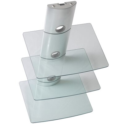 Tri-Shelf Wall Mount Bracket in Silver