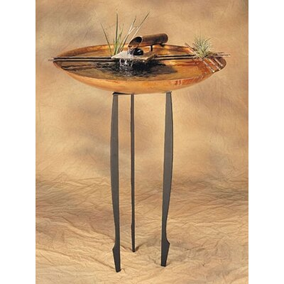 Nayer Kazemi Copper Nature Bowl Large Tabletop Fountain