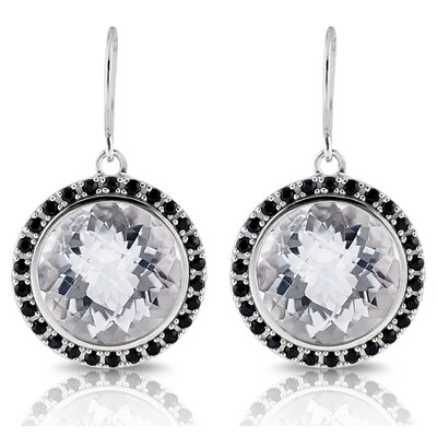 Élan Jewelry Capri Gemstone Sterling Silver with Black Rhodium Earrings