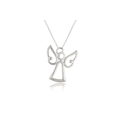 Élan Jewelry Sterling Silver Cubic Zirconia Angel Necklace