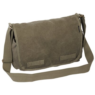 "Everest 15"" Cotton Canvas Messenger Bag"