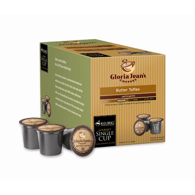 Keurig Gloria Jean's Butter Toffee Coffee K-Cup (Pack of 108)