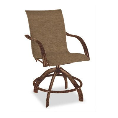 Homecrest Outdoor Palisade Sling Swivel Rocker Balcony Stool