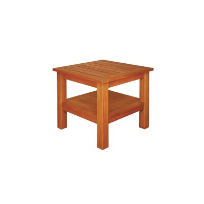 Terrace Mates Two Shelf High Square Side Table