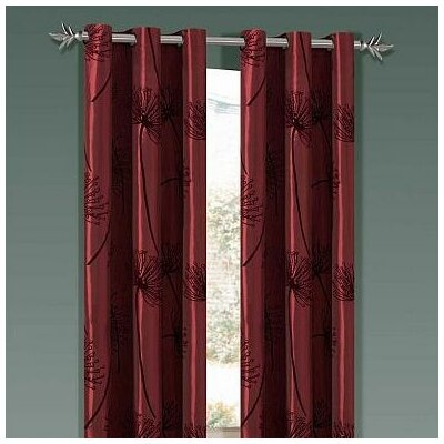 DR International Soleil Taffeta Flock Grommet Panel in Rust