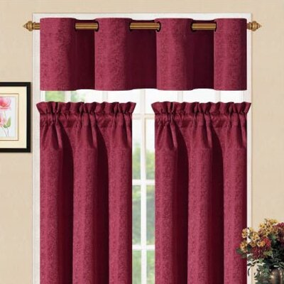 DR International Sensations Metal Kitchen Curtain Set