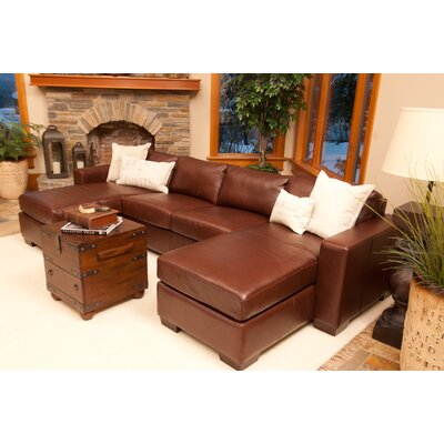 Elements Fine Home Furnishings Del Mar Leather Sectional