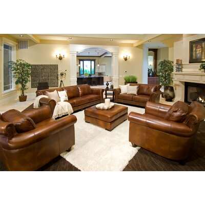Elements Fine Home Furnishings Paladia Leather Loveseat