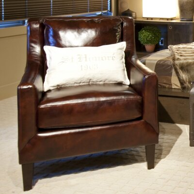 Elements Fine Home Furnishings Java Top Grain Leather Chair