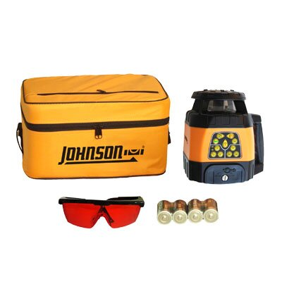 Johnson Level and Tool Electronic Self-Leveling Horizontal and Vertical Rotary Red Beam Laser