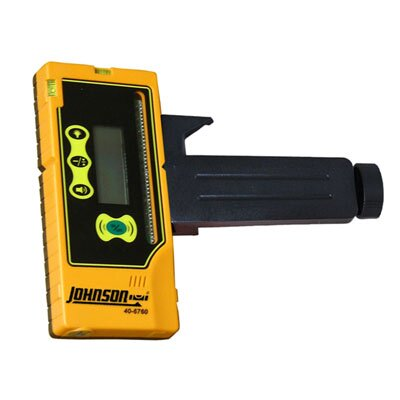 Johnson Level and Tool One-Sided Laser Detector with Clamp for Green Beam Lasers