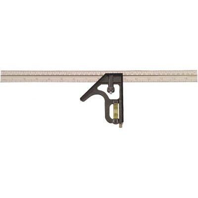"Johnson Level and Tool 16"" Metric Metal Combo Square"