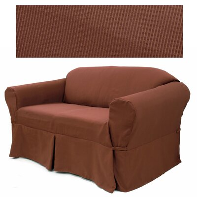 Easy Fit Elegant Ribbed Sofa Slipcover