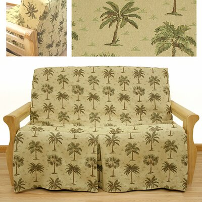 Easy Fit Desert Palm Skirted Futon Cover