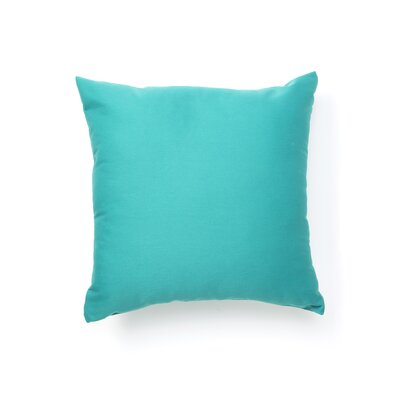 Solid Teal Square Pillow
