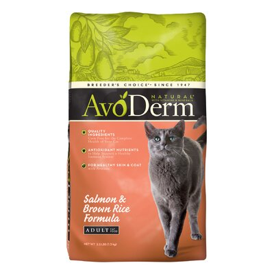 AvoDerm Natural Salmon and Brown Rice Corn Free Formula Cat Food