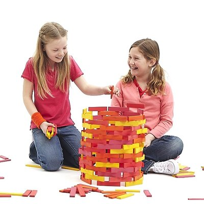 Citiblocs 200 Piece Building Block Set in Hot Colors