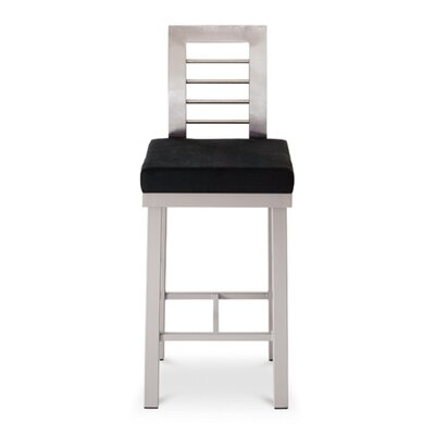"Amisco Counter Height Bar Stool - Tracy 24"" Stainless Steel"