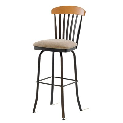 "Amisco Tammy 30"" Swivel  Barstool with Memory Return"