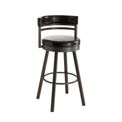 "Amisco Europa 30"" Ronny Swivel Bar Stool"